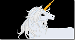 Unicorn in color light blue and grey2
