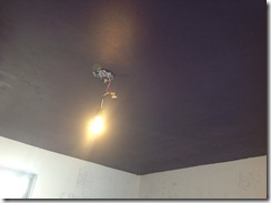 after painted ceiling