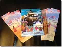 suncatcher and bookmarks prizes